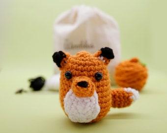 Beginner Learn to Crochet Kit Fox by The Woobles -  Easy Crochet Starter Kit - Crochet Plushie Kit - Amigurumi Kit - DIY Craft Kit Gift