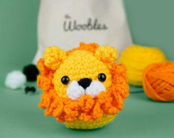 Beginner Crochet Kit Lion by The Woobles - Easy First Crochet Starter Kit - Crochet Plushie Kit - Amigurumi Kit - DIY Craft Kit Gift