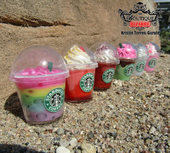 Keychain Starbucks Secret Menu Drinks Frappucino Rainbow Drink Red Velvet Halloween Strawberry Shortcake Oreo Miniature Keychain Minis