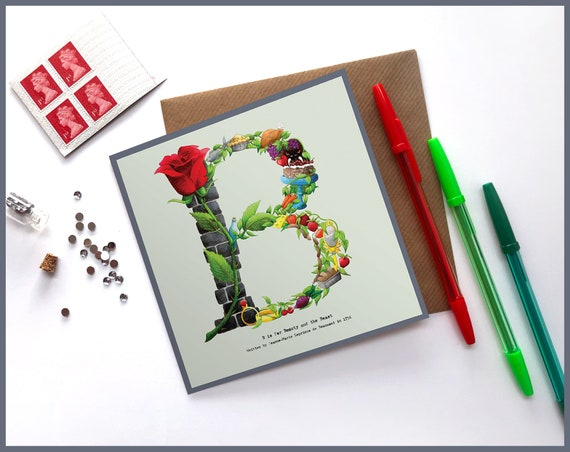 B is for Beauty and the Beast Greeting Card