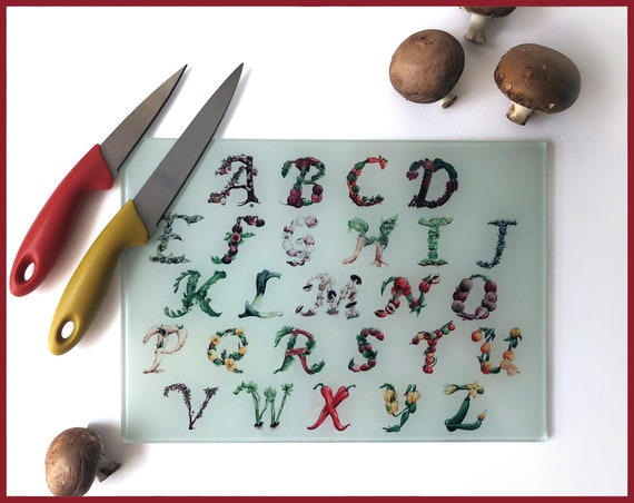 The Culinary Alphabet Cutting Board
