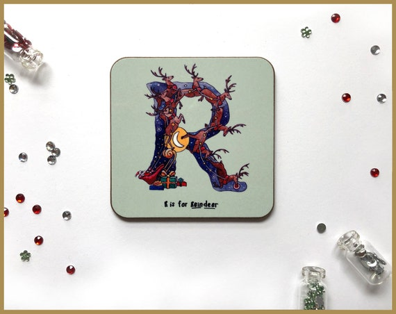 Christmas Alphabet Coasters