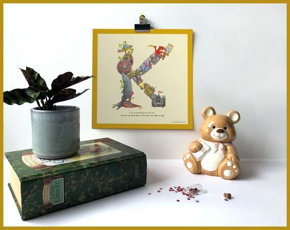 K is for Knights of the Fish Art Print