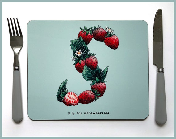 Fruit and Vegetable Alphabet Placemats