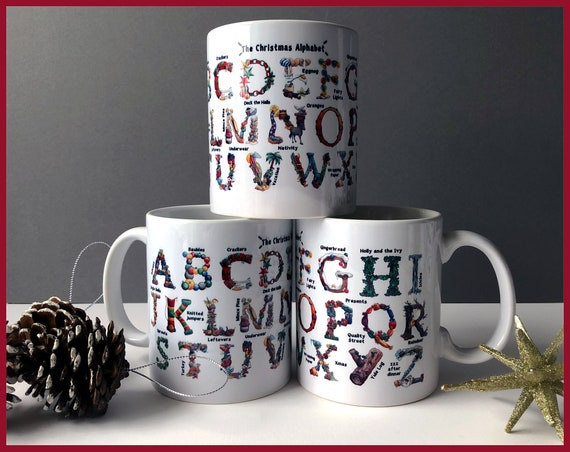 The Christmas Alphabet Ceramic Mug