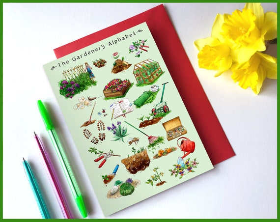 The Gardener's Alphabet Greeting Card