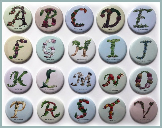 Alphabet Fridge Magnets - The Culinary Collection