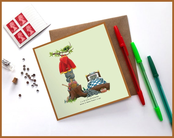 L is for Little Red Riding Hood Greeting Card