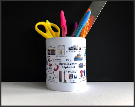 The Birmingham Alphabet Pencil Pot / Plant Pot