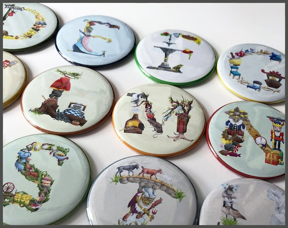 Alphabet Fridge Magnets - The Fairy Tale Collection