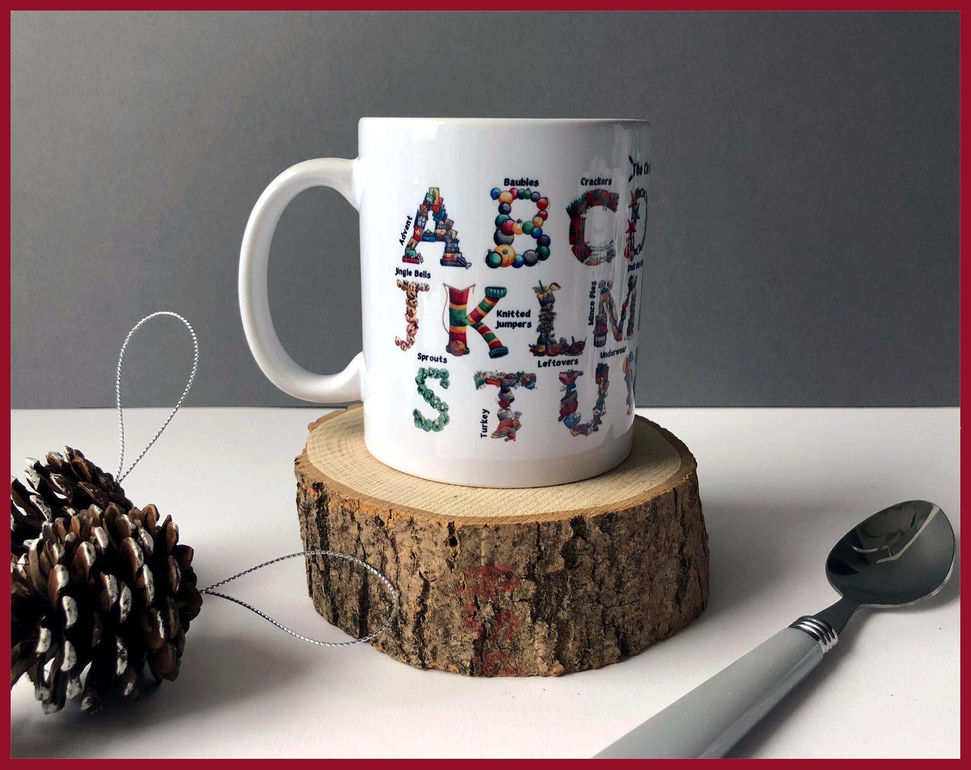 The Christmas Alphabet Ceramic Mug