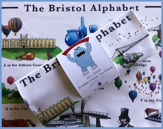 The Bristol Alphabet Tea Towel
