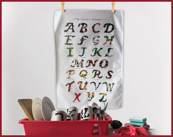 The Culinary Alphabet Tea Towel