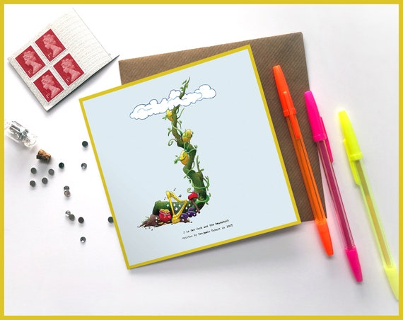 J is for Jack and the Beanstalk Greeting Card