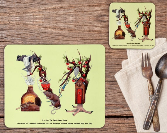Set of Four Placemats and Coasters