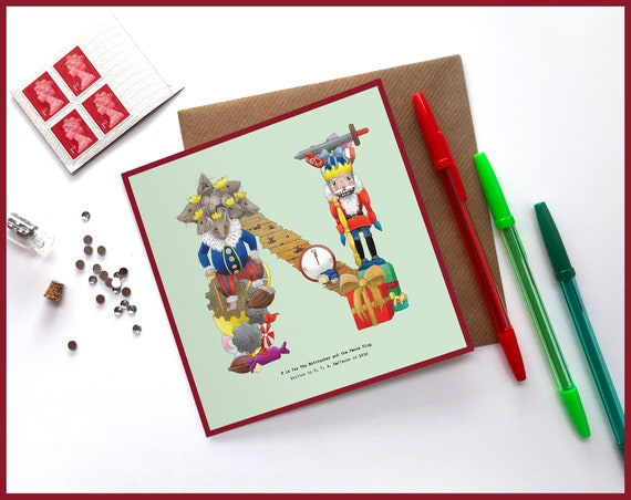 N is for The Nutcracker Greeting Card