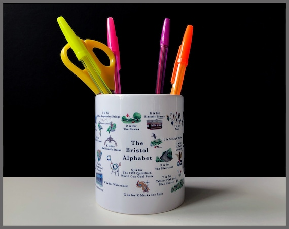 The Bristol Alphabet Pencil Pot / Plant Pot
