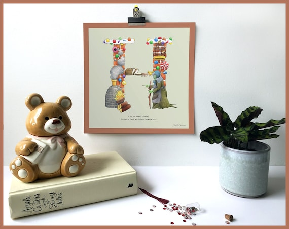 H is for Hansel and Gretel Art Print