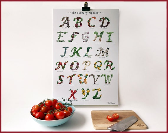 The Culinary Alphabet - A-Z Print