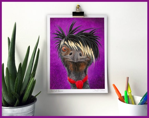 Emu Signed Fine Art Print