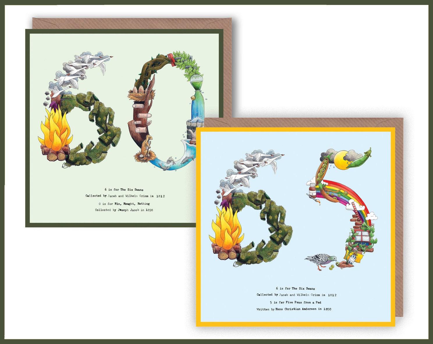 60th 65th Birthday Card