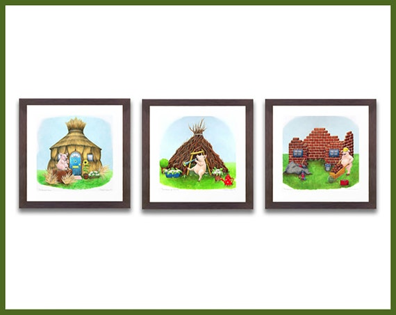 Three Little Pigs - Limited Edition Prints