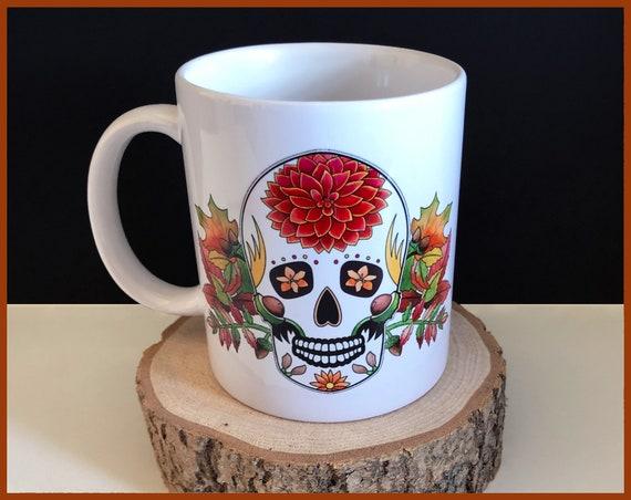 'Autumn' Sugar Skull Mug