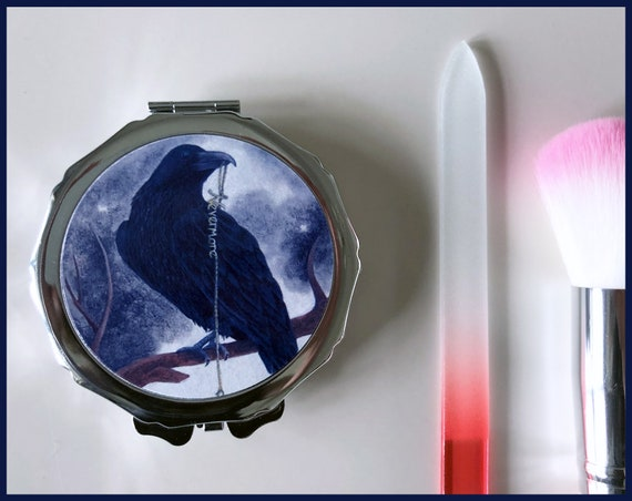 The Raven Compact Mirror