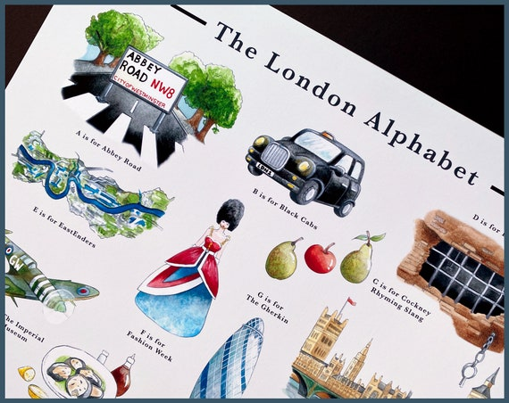 The London Alphabet Signed Fine Art Print