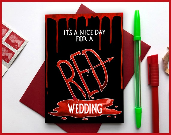 Red Wedding Greeting Card