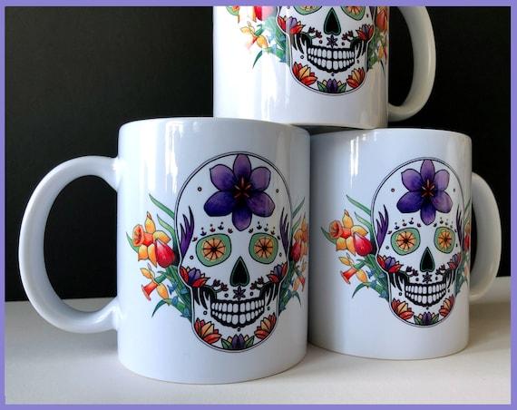 'Spring' Sugar Skull Mug