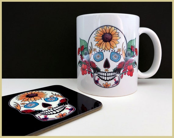 'Summer' Sugar Skull Mug