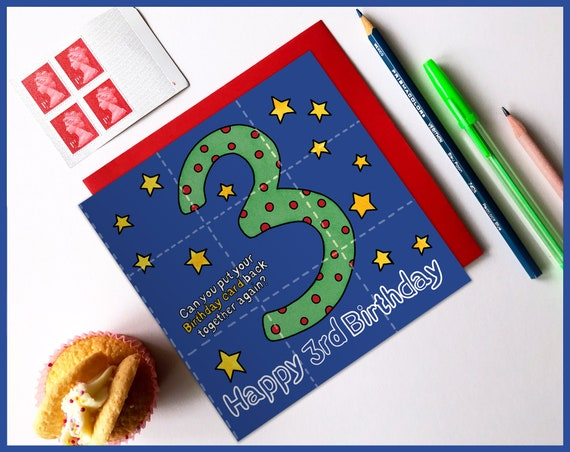 3rd Birthday Activity Card