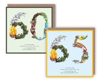 60th & 65th Birthday Card, 60th Card, 65th Card, Number 60 card, Happy 60th, Happy 65th, Number 60, 60th Anniversary Card, Birthday Cards