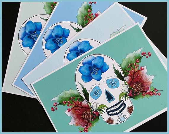 Winter Sugar Skull Signed Fine Art Print