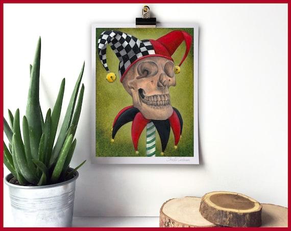 Yorick's Skull  Signed Fine Art Print