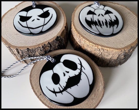 Black and White Pumpkin Christmas Decorations