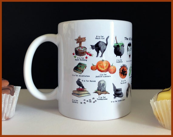 The All Hallow's Eve Alphabet Ceramic Mug