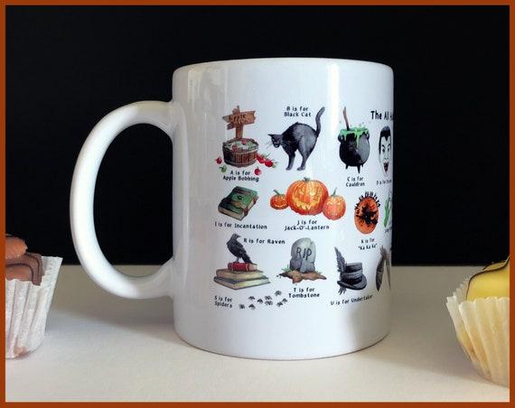The All Hallow's Eve Alphabet Ceramic Mug