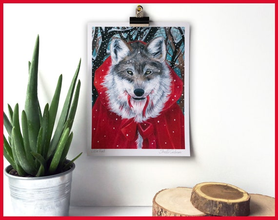 Little Red Riding Hood Signed Fine Art Print