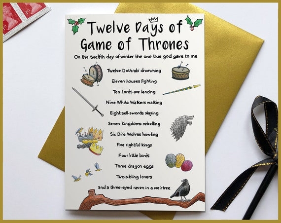 Twelve Days of Game of Thrones Christmas Card