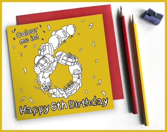 6th Birthday Activity Card