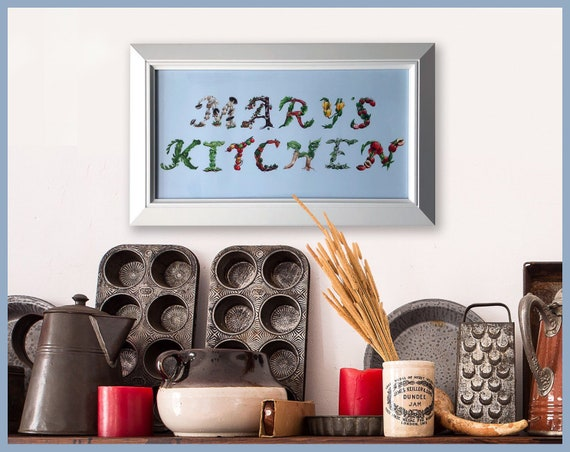 Personalised Kitchen Sign/ Kitchen Sign/ Personalised dining / Custom Kitchen Sign / Farmhouse Kitchen Sign / Country Kitchen Sign / Gift