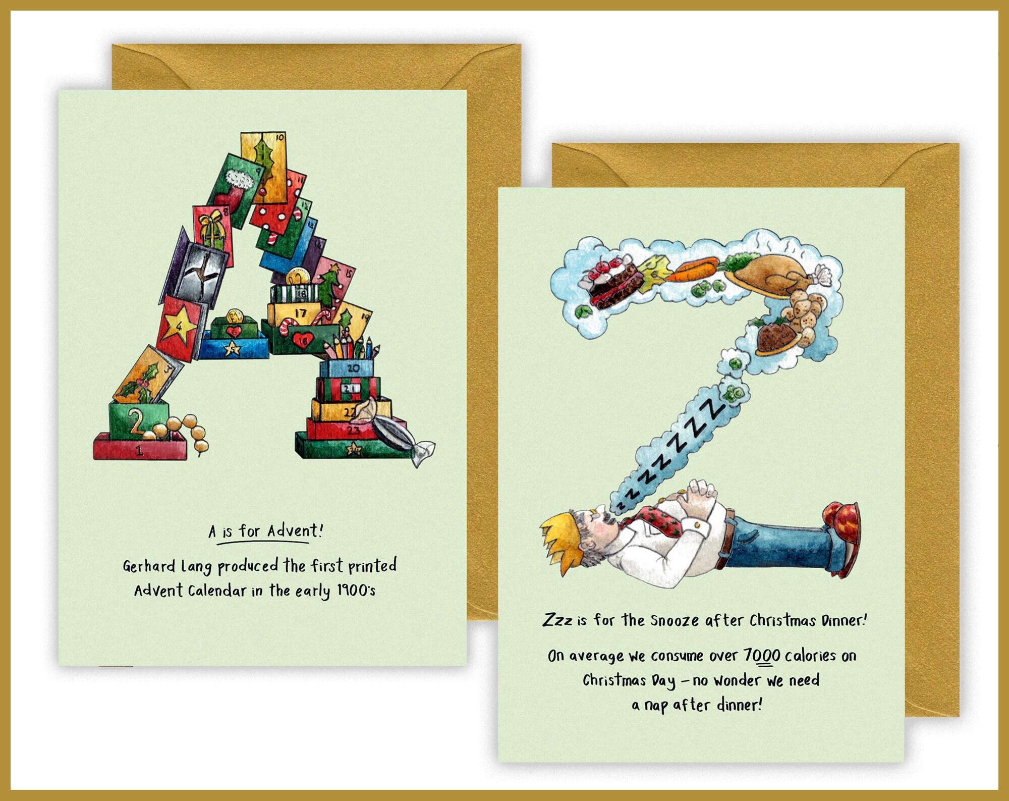 Christmas Greetings Letter.Alphabet Letter Christmas Cards