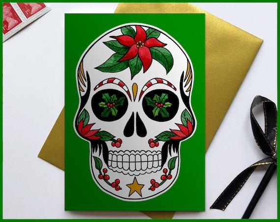 Sugar Skull Christmas Card