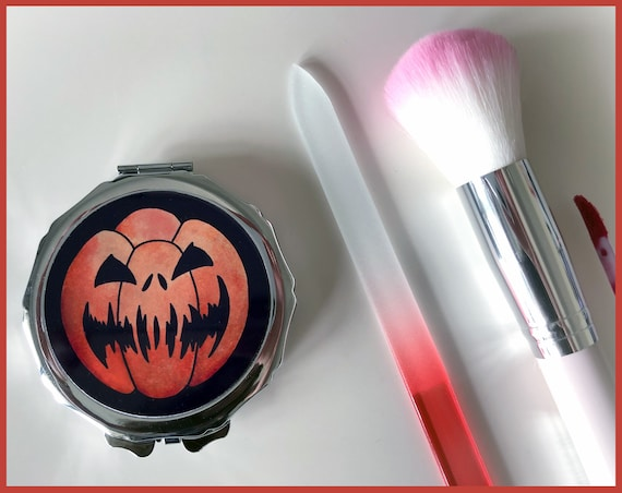 Pumpkin Compact Mirror - 2 Designs to choose From
