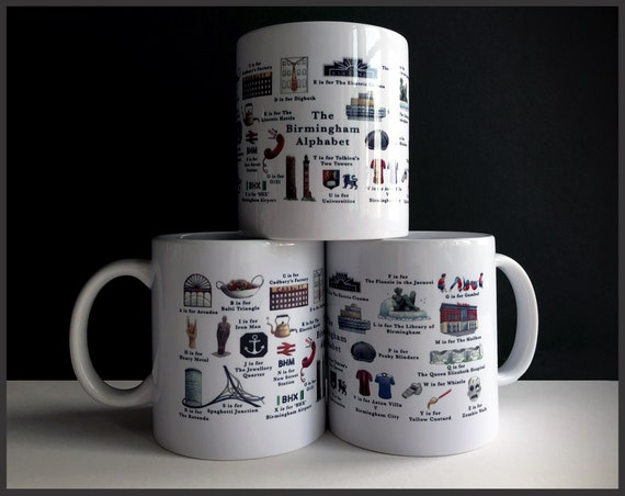 The Birmingham Alphabet Hand-printed Ceramic Mug