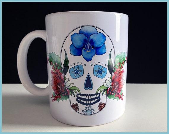 'Winter' Sugar Skull Mug