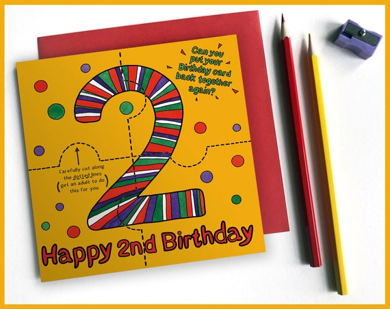 2nd Birthday Activity Card
