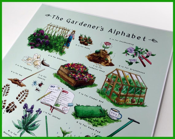 The Gardener's Alphabet - Signed Fine Art Print
